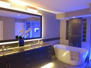 Decorando con Tiras led en el baño